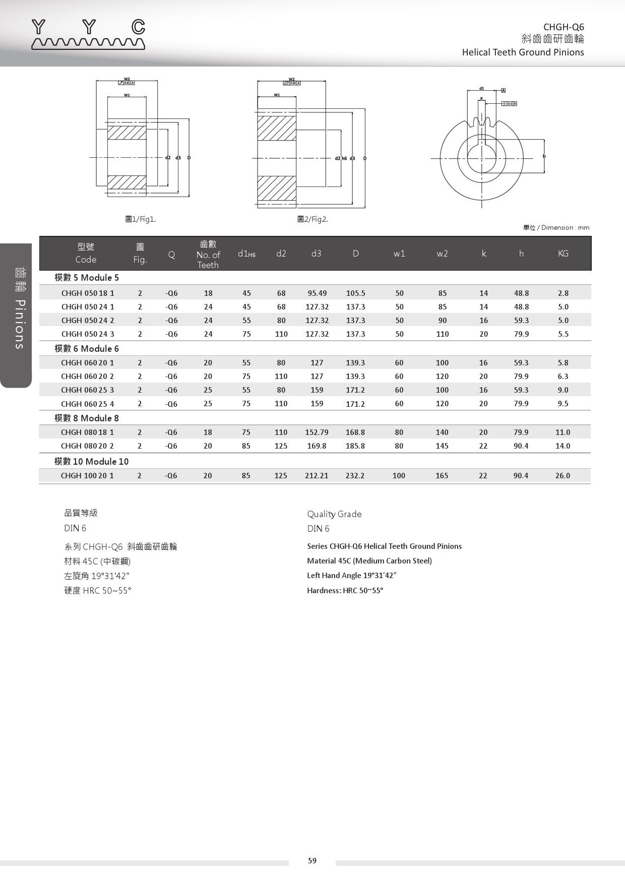 CHGH-Q6-5 斜齒齒研齒輪