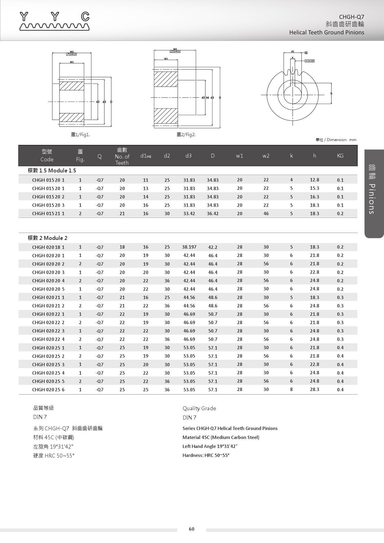 CHGH-Q7-1 斜齒齒研齒輪