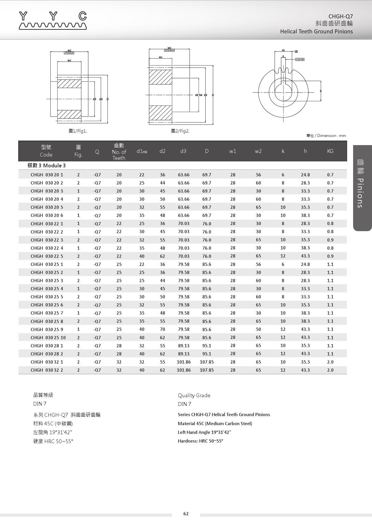 CHGH-Q7-3 斜齒齒研齒輪