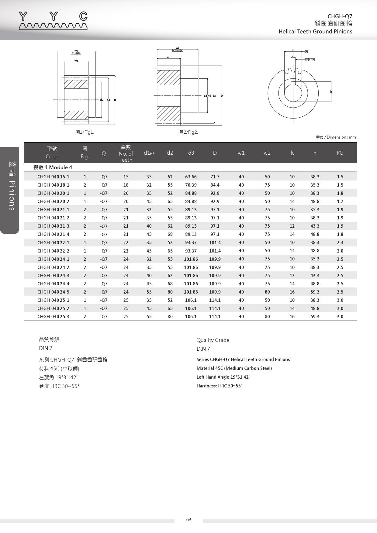 CHGH-Q7-4 斜齒齒研齒輪