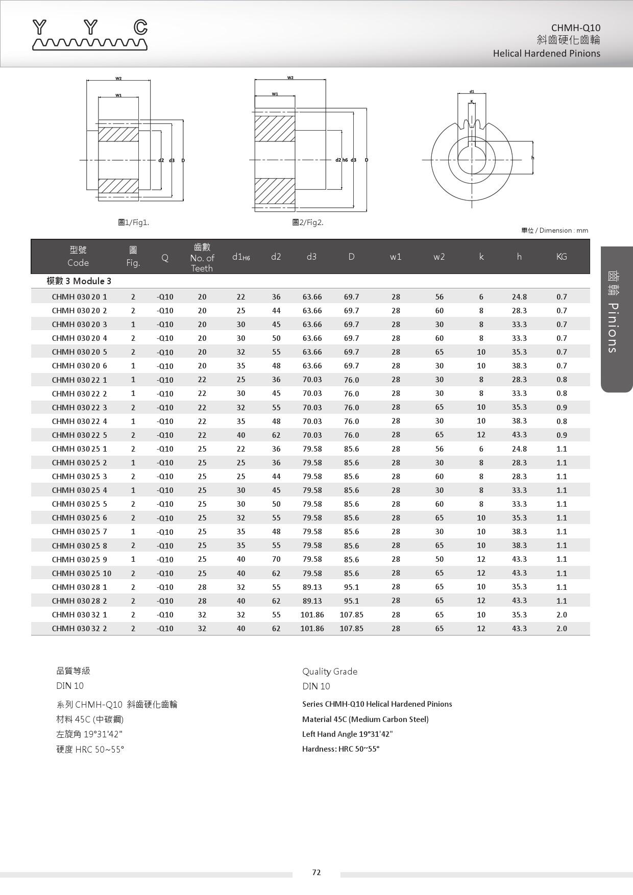 CHMH-Q10-3 斜齒硬化齒輪